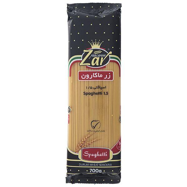 اسپاگتی قطر 1.5 زر ماکارون مقدار 700 گرم