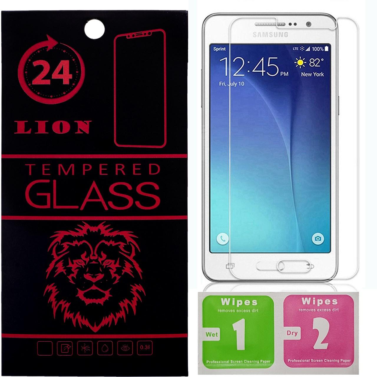 محافظ صفحه نمایش شیشه ای لاین مدل 2.5D مناسب برای گوشی سامسونگ G530_Grand Prime