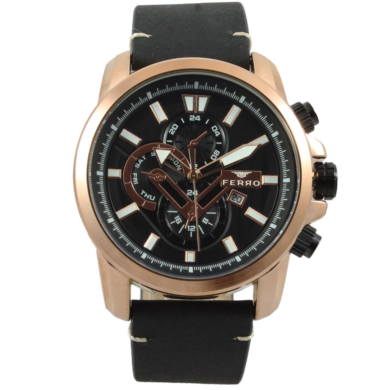 ساعت مچی عقربه ای مردانه فرو مدل F61518-593-C