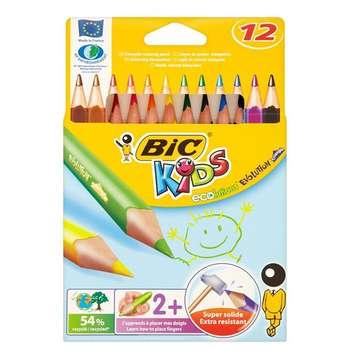 مداد رنگی 12 رنگ بیک مدل Ecolutions Evolution Triangle
