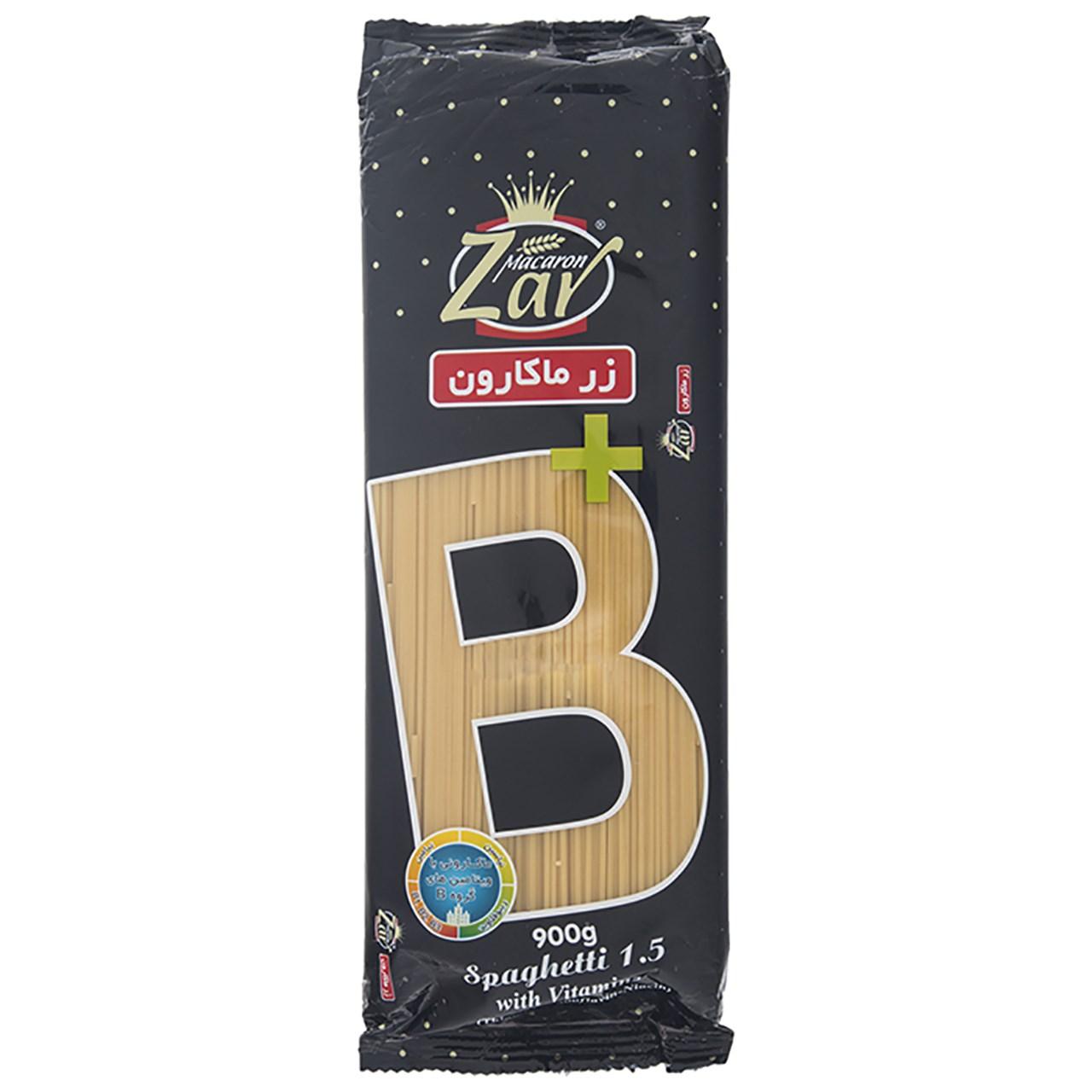 اسپاگتی قطر 1.5 حاوی ویتامین B زر ماکارون - 900 گرم