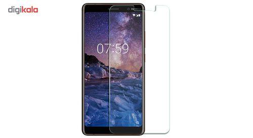 محافظ صفحه نمایش شیشه ای مدل تمپرد مناسب برای گوشی موبایل Nokia 7 Plus