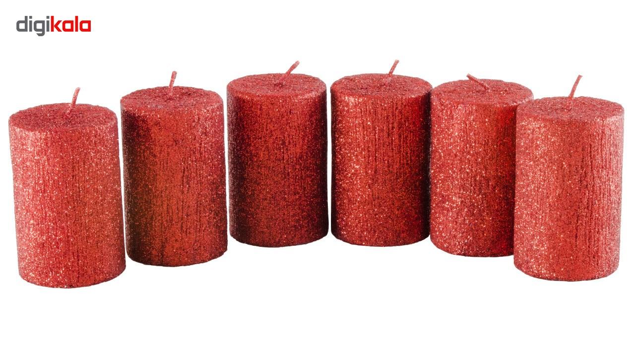 شمع طرح استوانه مجموعه 6 عددی