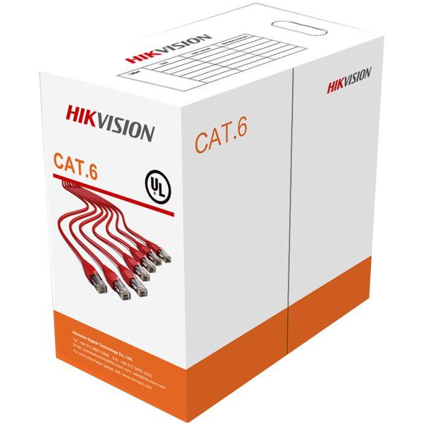 رول کابل شبکه Cat 6 سایز 23AWG هایک ویژن مدل DS-1LN6-UU طول 305 متر