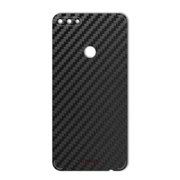 برچسب پوششی ماهوت مدل Carbon-fiber Texture مناسب برای گوشی  Huawei Y7 Prime 2018