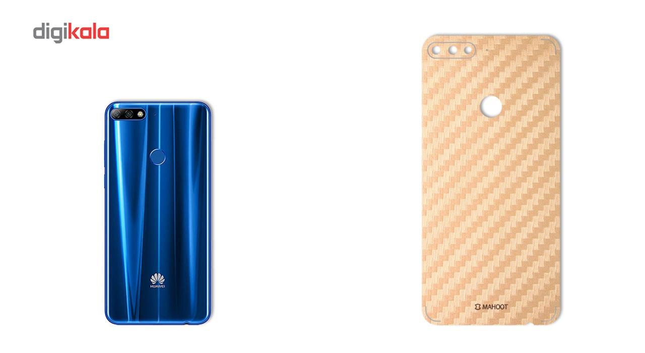 برچسب پوششی ماهوت مدل Carbon-fiber Texture مناسب برای گوشی  Huawei Y7 Prime 2018 main 1 2