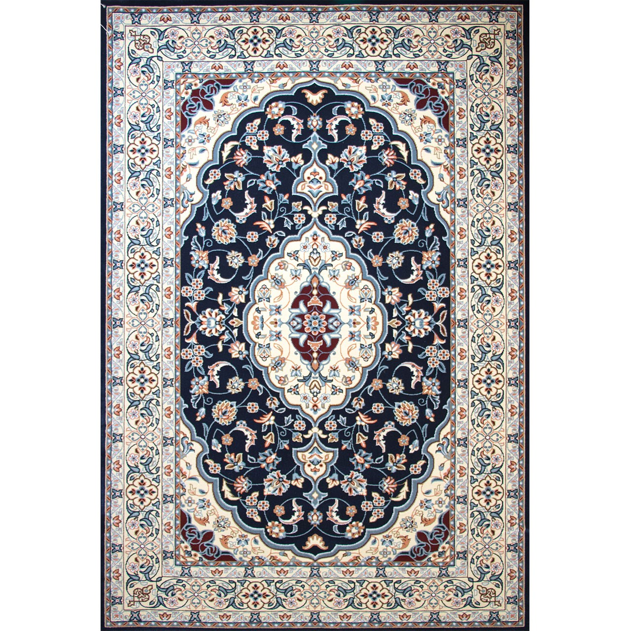 فرش ماشینی ساوین کد 2104 زمینه سرمه ای