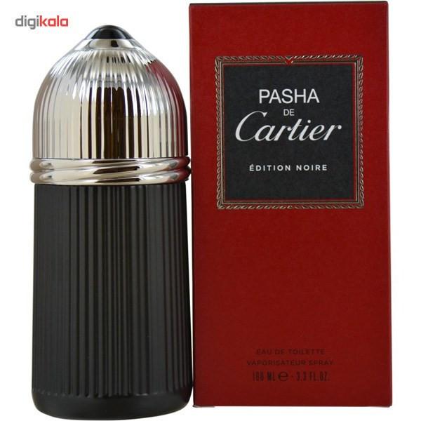 ادو تویلت مردانه کارتیه مدل Pasha de Cartier Edition Noire حجم 100 میلی لیتر