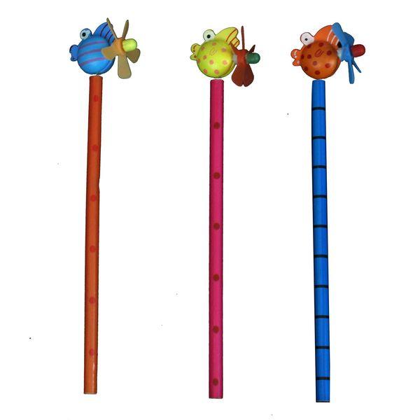 مداد ارت کیوب مدل عروسکی طرح 5006 بسته سه عددی