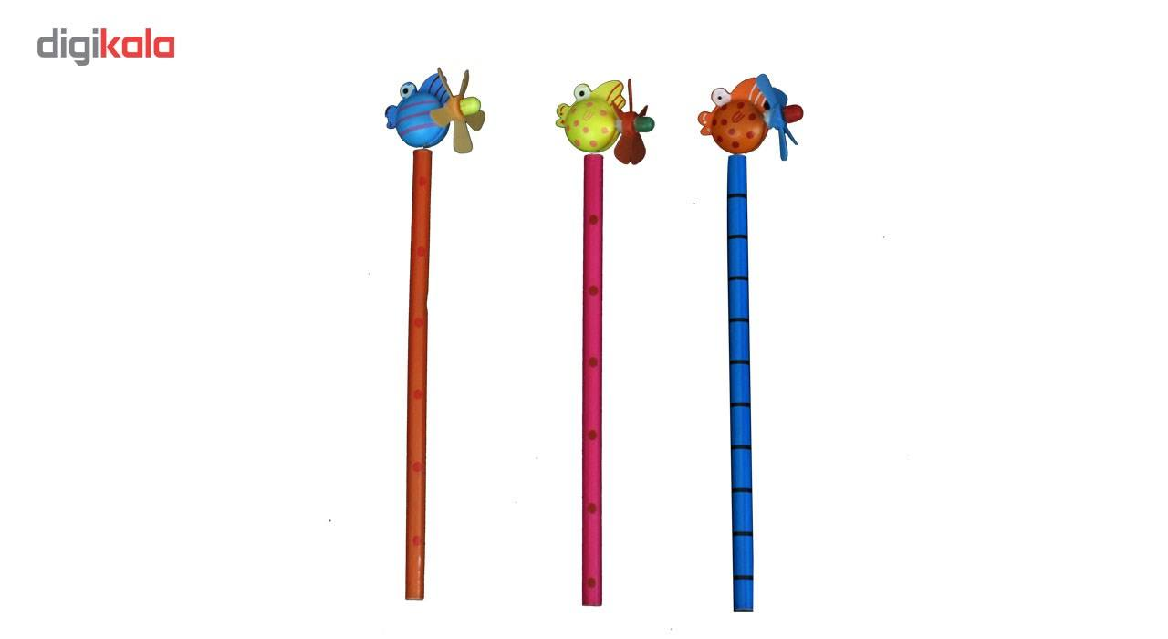 مداد ارت کیوب مدل عروسکی طرح 5006 بسته سه عددی main 1 1