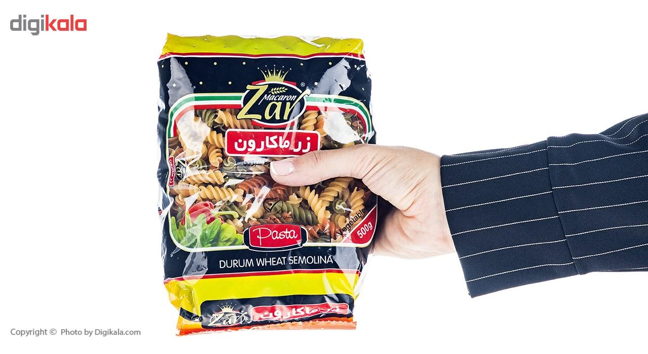 ماکارونی مخلوط سبزیجات زر ماکارون مقدار 500 گرم