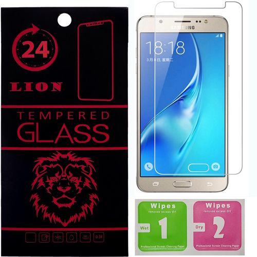محافظ صفحه نمایش شیشه ای لاین مدل 2.5D  مناسب برای گوشی سامسونگ  J7 2015/J7 2016