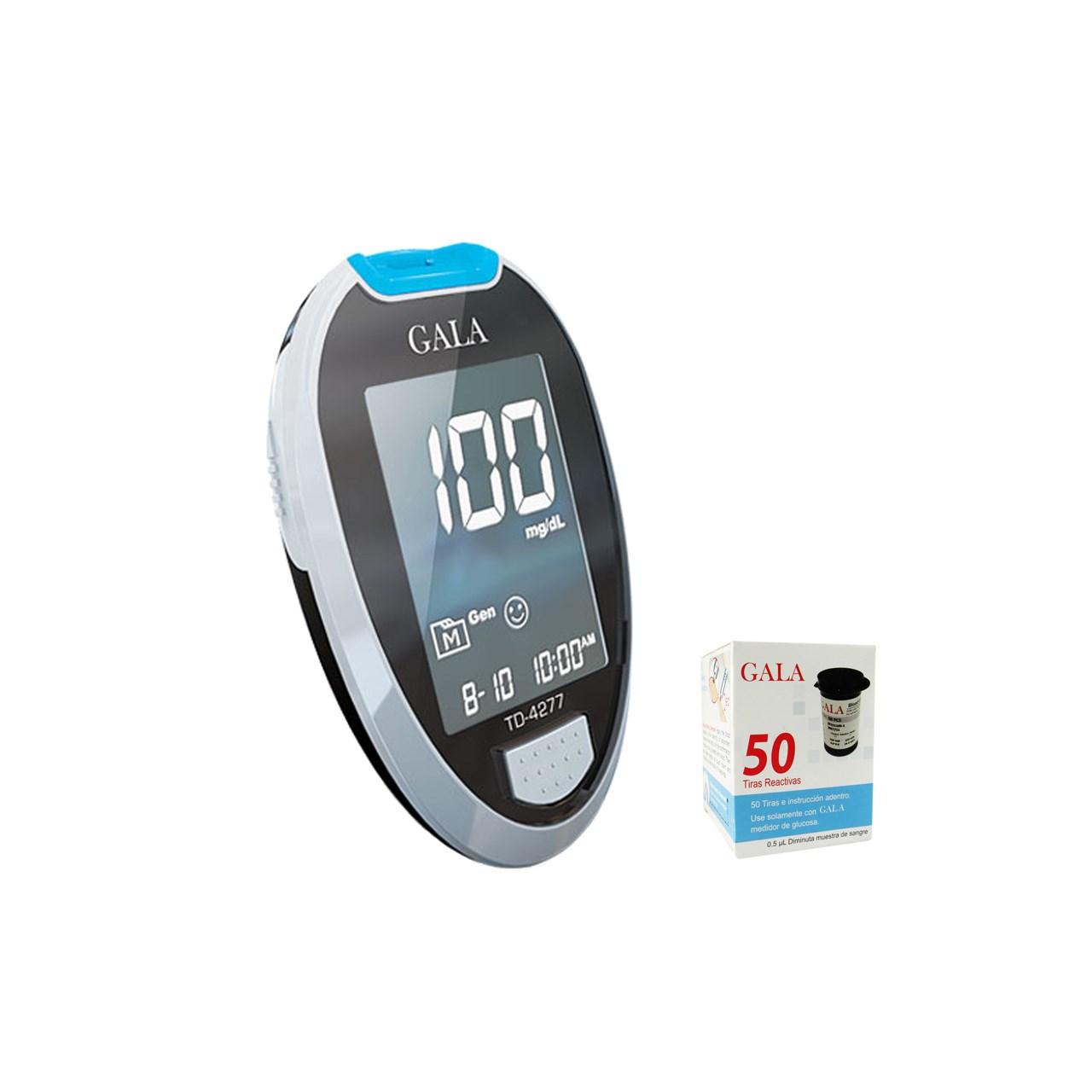 دستگاه  تست قند خون  گالا   GALA  - همراه با 50 عدد نوار و سوزن | GALA TD-4277  Blood Suger Monitor
