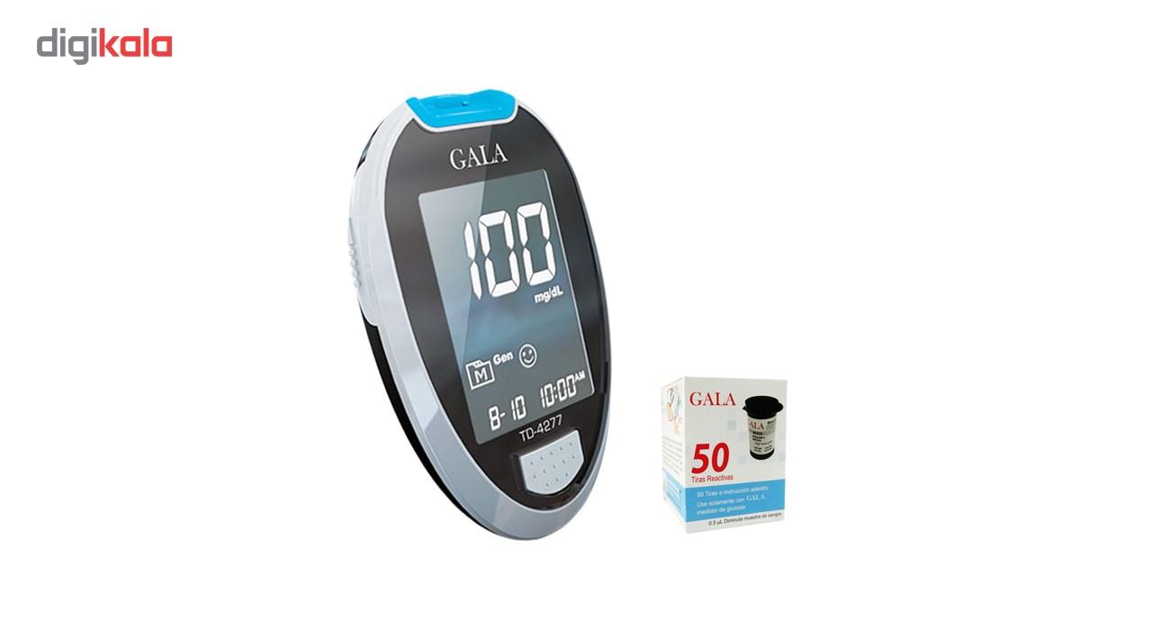 دستگاه تست قند خون گالا مدل TD4277 به همراه یک بسته نوار 50 عددی