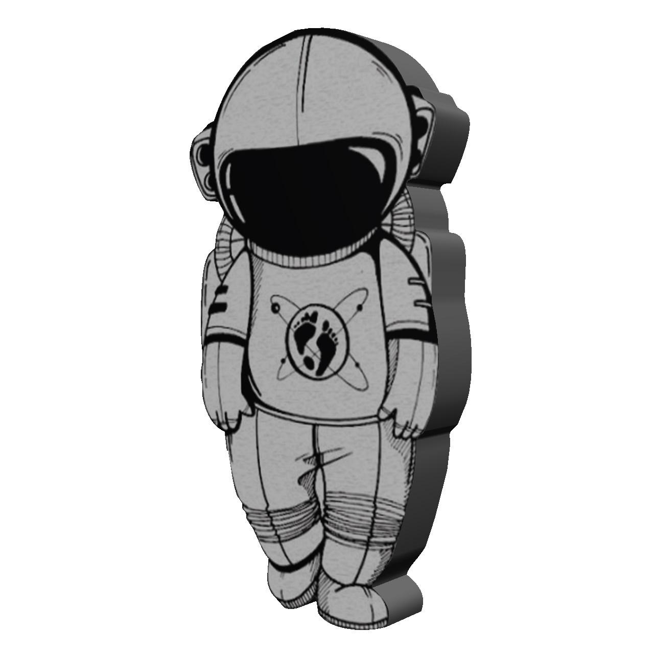 استیکر چوبی  بانیبو مدل Spaceman02
