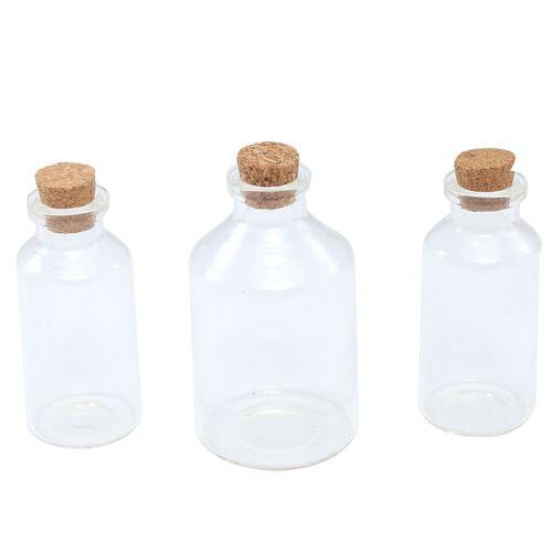 بطری شیشه ای دکوری کوه شاپ کد TP-B4466 بسته 3 عددی