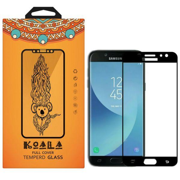 محافظ صفحه نمایش شیشه ای کوالا مدل Full Glue مناسب برای گوشی موبایل سامسونگ Galaxy J7 Pro