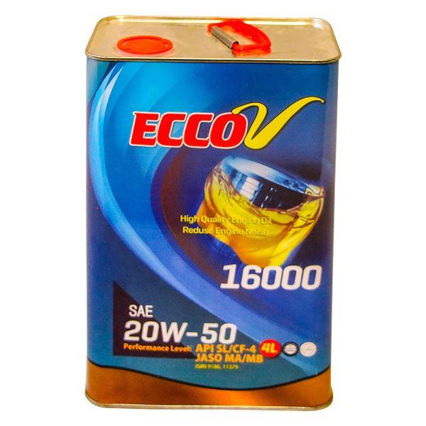 روغن موتور اکووی 16000 سطح کیفی SL گرید 20W50 حجم چهار لیتر