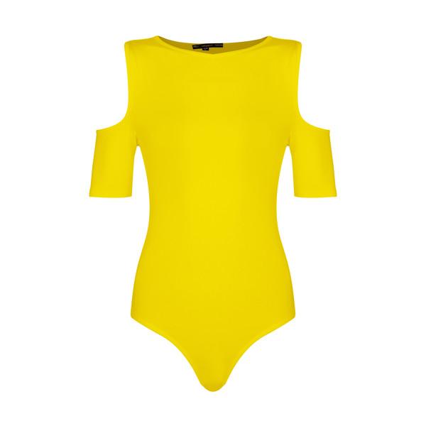 بادی آستین کوتاه زنانه افراتین کد 9541 رنگ زرد