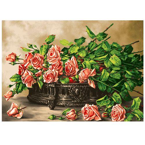 نخ و نقشه تابلو فرش سیرمان طرح گلهای رز کد 2276