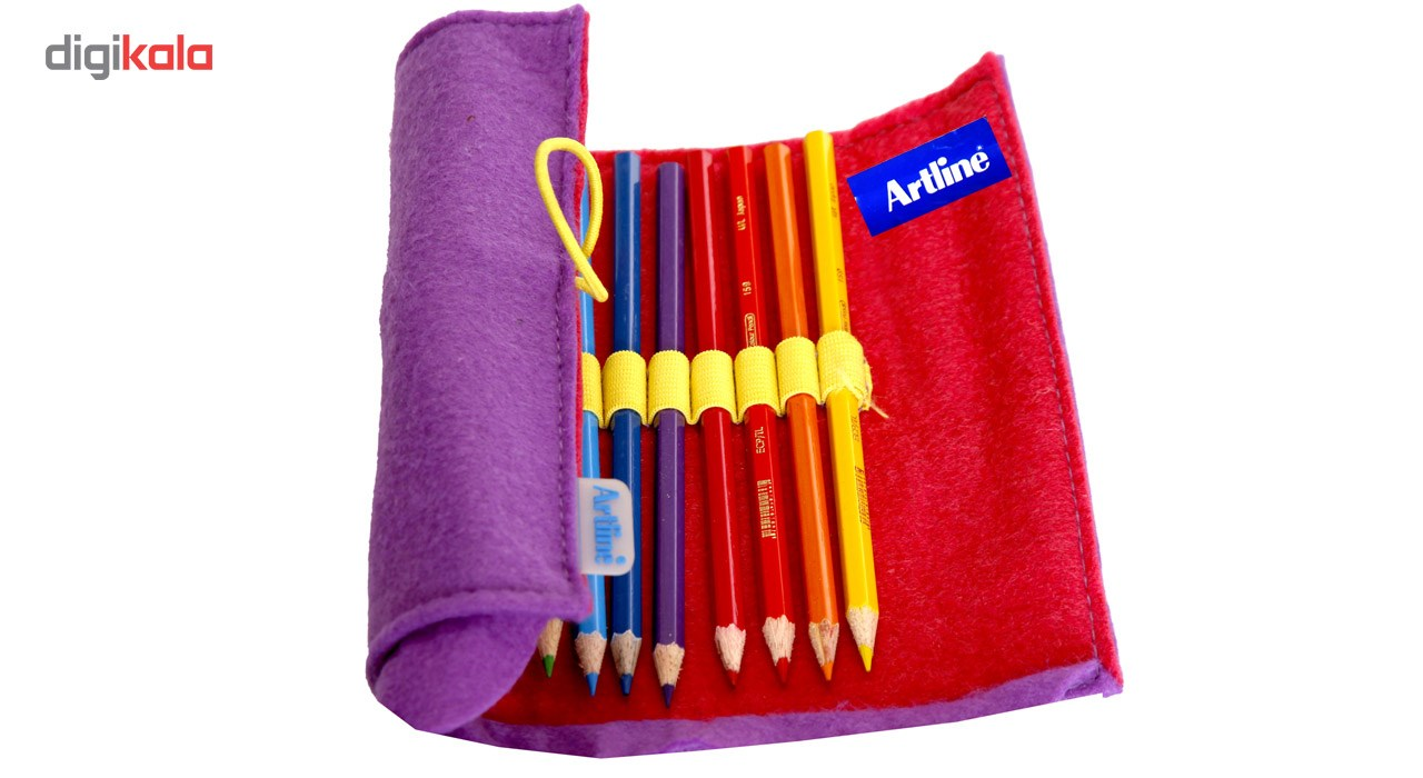 مداد رنگی 12 رنگ مدل آرت لاین Artline به همراه یک عدد پاکن تراش