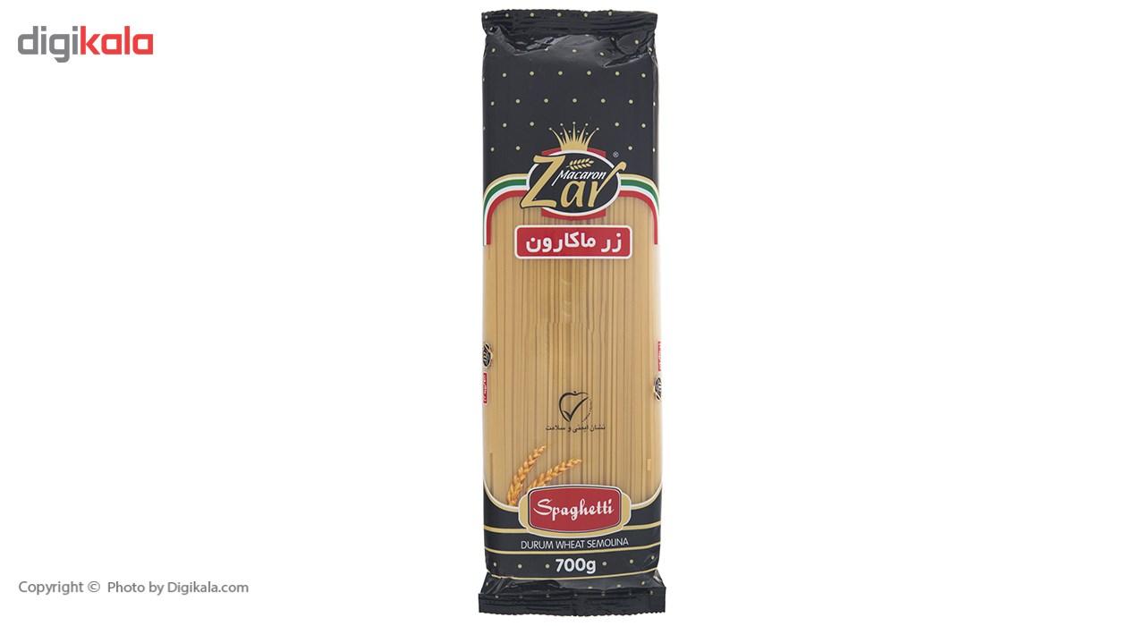 اسپاگتی قطر 1.7 زر ماکارون مقدار 700 گرم