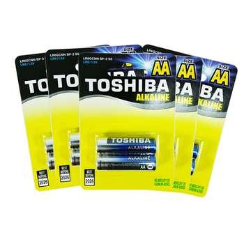 باتری قلمی توشیبا مدل LR6GCNN Alkaline بسته 10 عددی