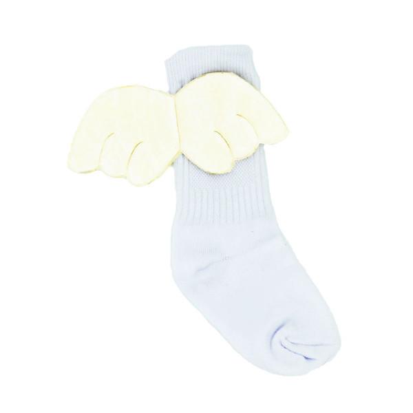 جوراب بچگانه بالدار سفید کد J5