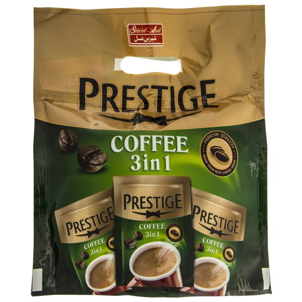قهوه فوری با پودر خامه و شکر شیرین عسل بسته 20 عددی