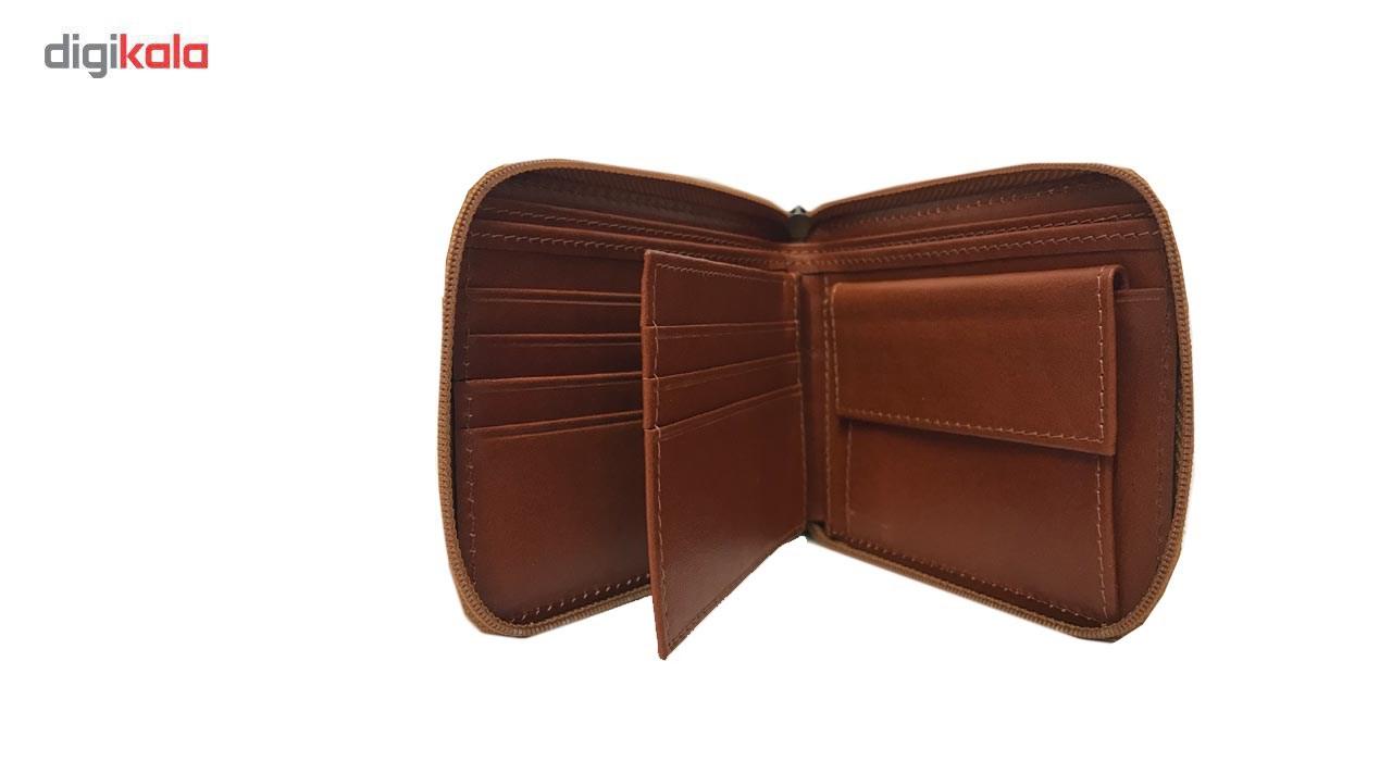 کیف پول جیبی چرم رایا مدل 105