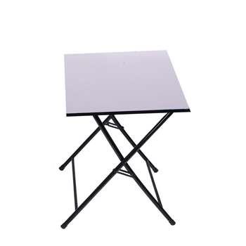 میز تحریر تاشو و تنظیم شو سفید یاس ایستاده