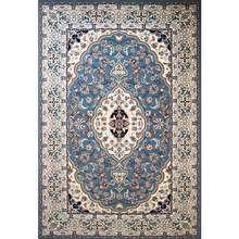 فرش ماشینی ساوین کد 2104 زمینه آبی