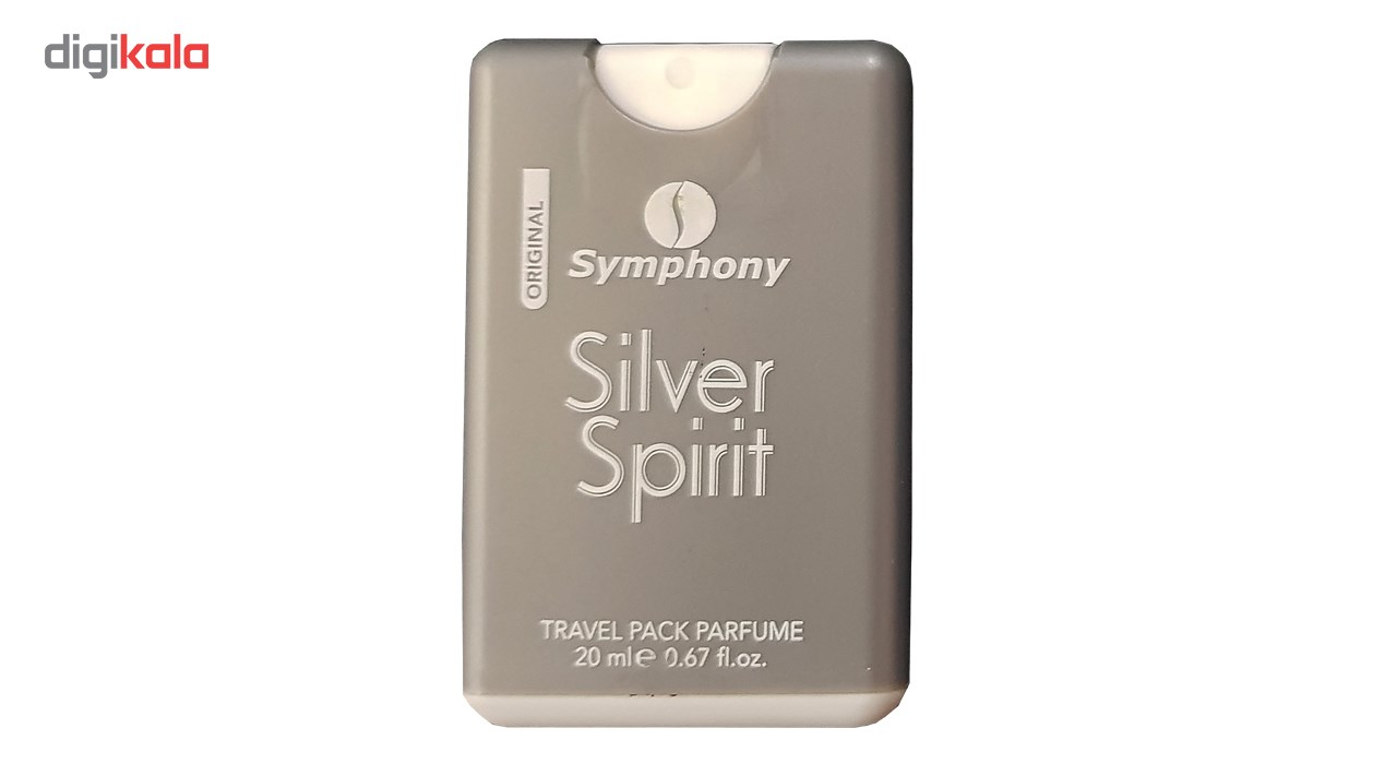 ادکلن جیبی مردانه سیمفونی مدل Silver Spirit حجم 20 میلی لیتر