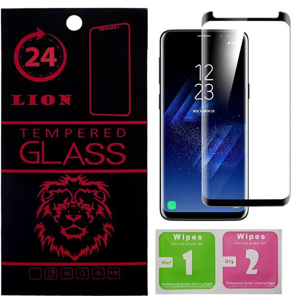 محافظ صفحه نمایش شیشه ای لاین مدل Short 3D مناسب برای گوشی سامسونگ S8