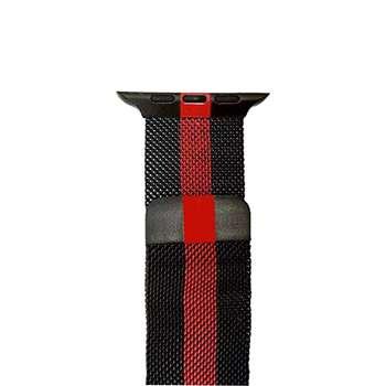 بند فلزی میلانس مدل Red And Black مناسب برای اپل واچ  42میلی متری