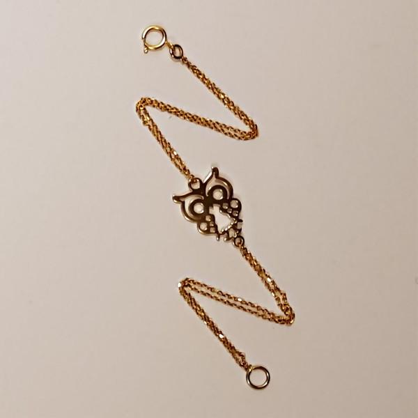 دستبند طلا 18 عیار گالری آمانژ مدل D167