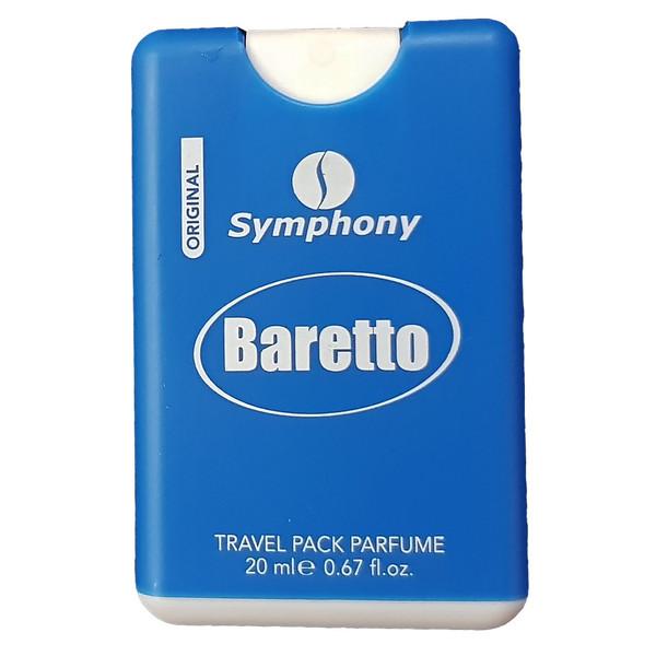 ادکلن جیبی مردانه سیمفونی مدل Baretto حجم 20 میلی لیتر