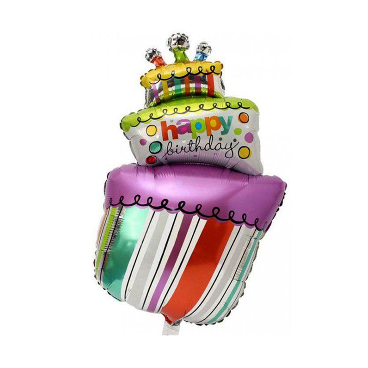 عکس بادکنک فویلی سورتک مدل کیک تولد