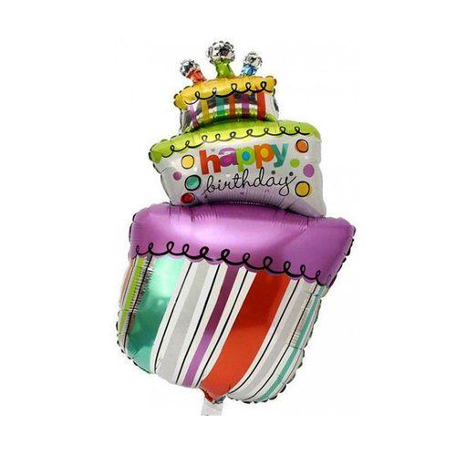بادکنک فویلی سورتک مدل کیک تولد