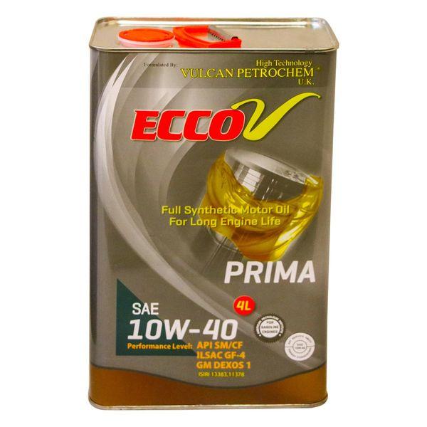 روغن موتور اکووی Prima سطح کیفیSM گرید 10W40 حجم چهار لیتر