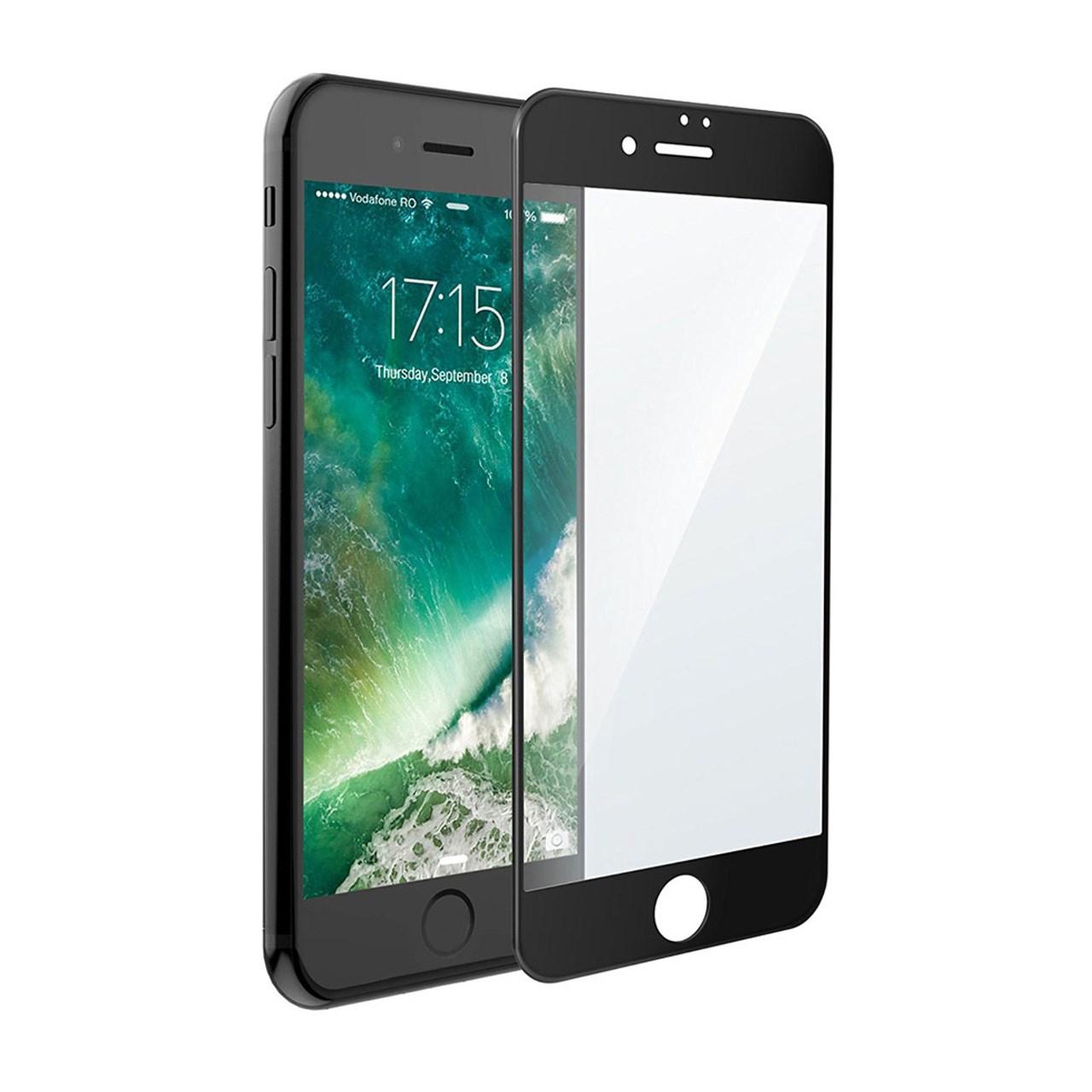 محافظ صفحه نمایش آر جی مدل Full Cover مناسب برای گوشی موبایل آیفون 8 پلاس