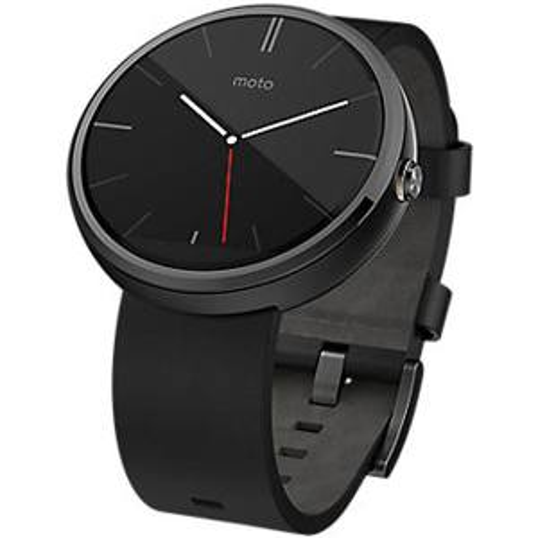 ساعت هوشمند موتورولا Moto 360 Black Leather Band