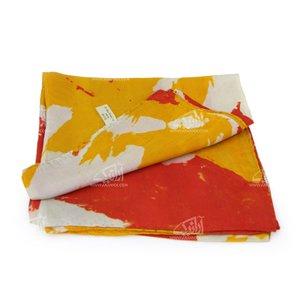 روسری ابریشمی باتیک قواره کوچک رنگارنگ طرح کژال مدل 1213100005