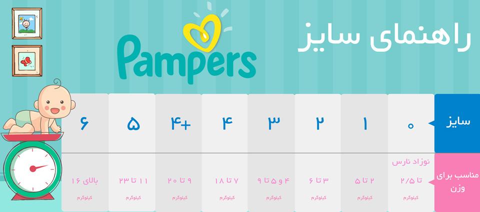 پوشک پمپرز مدل Baby Dry سایز 6 بسته 19 عددی infographic