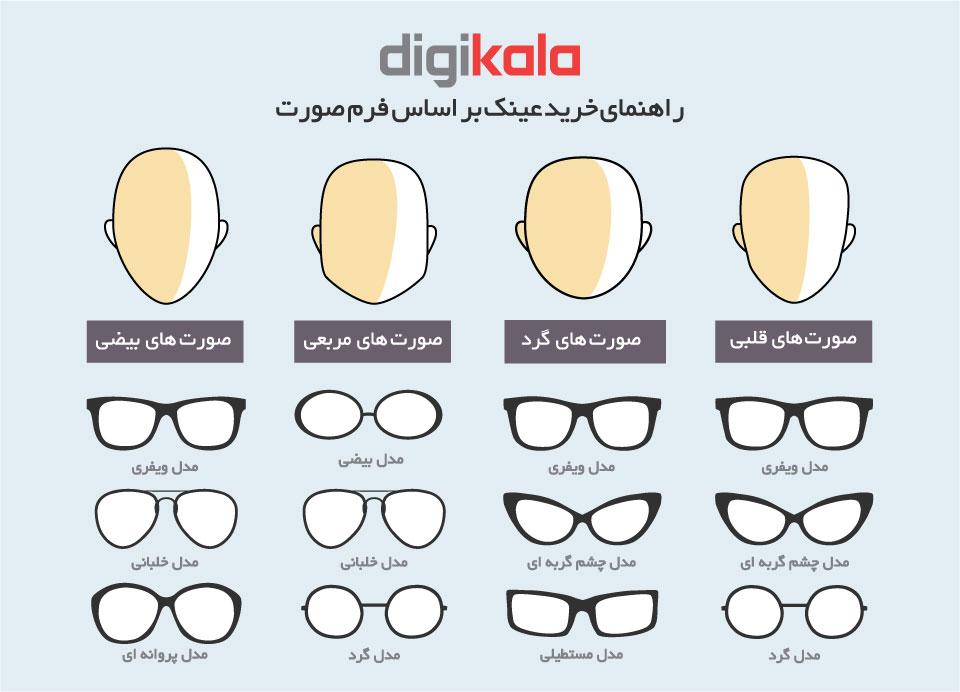 عینک آفتابی Nik03 سری Silver مدل Nk1110 Rsp infographic