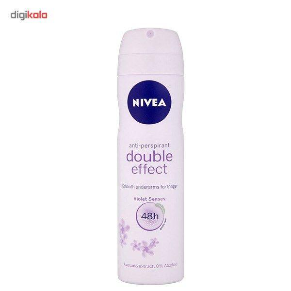 اسپری ضد تعریق زنانه نیوآ مدل Double Effect حجم 150 میلی لیتر  Nivea Double Effect Spray For Women