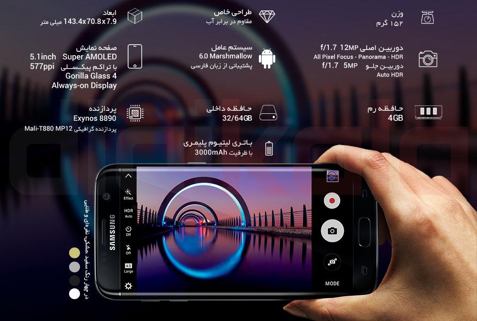 گوشی موبایل سامسونگ مدل Galaxy S7 SM-G930F ظرفیت 32 گیگابایت infographic