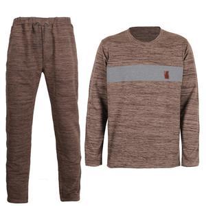 ست تی شرت و شلوار مردانه لباس خونه کد 990812 رنگ خاکی