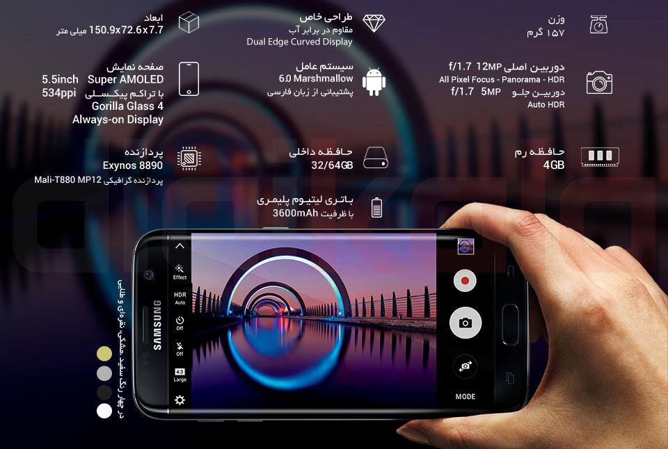 گوشی موبایل سامسونگ مدل Galaxy S7 Edge SM-G935F ظرفیت 32 گیگابایت infographic