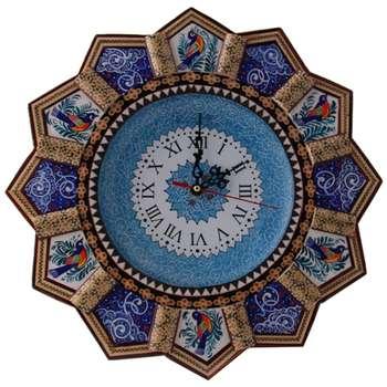 ساعت دیواری خاتم  و میناکاری مارکت لند کد Mkh167